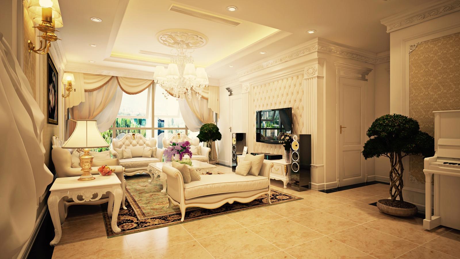 Tư vấn thiết kế nội thất Tân Cổ Điển - Hotline: 091 559 1234