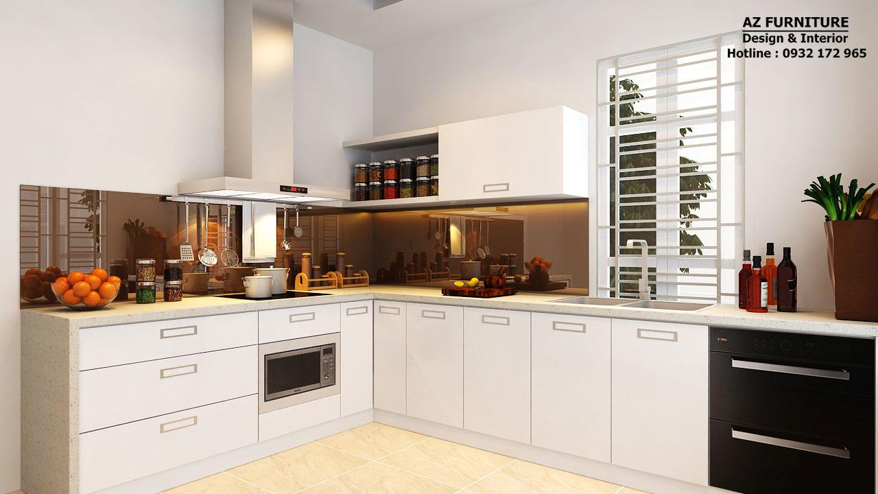 thiết kế nội thất bếp chung cư, biệt thự