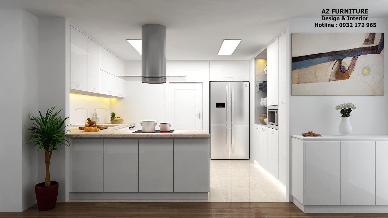 Thiết kế nội thất bếp đẹp - Hottline: 091 559 1234