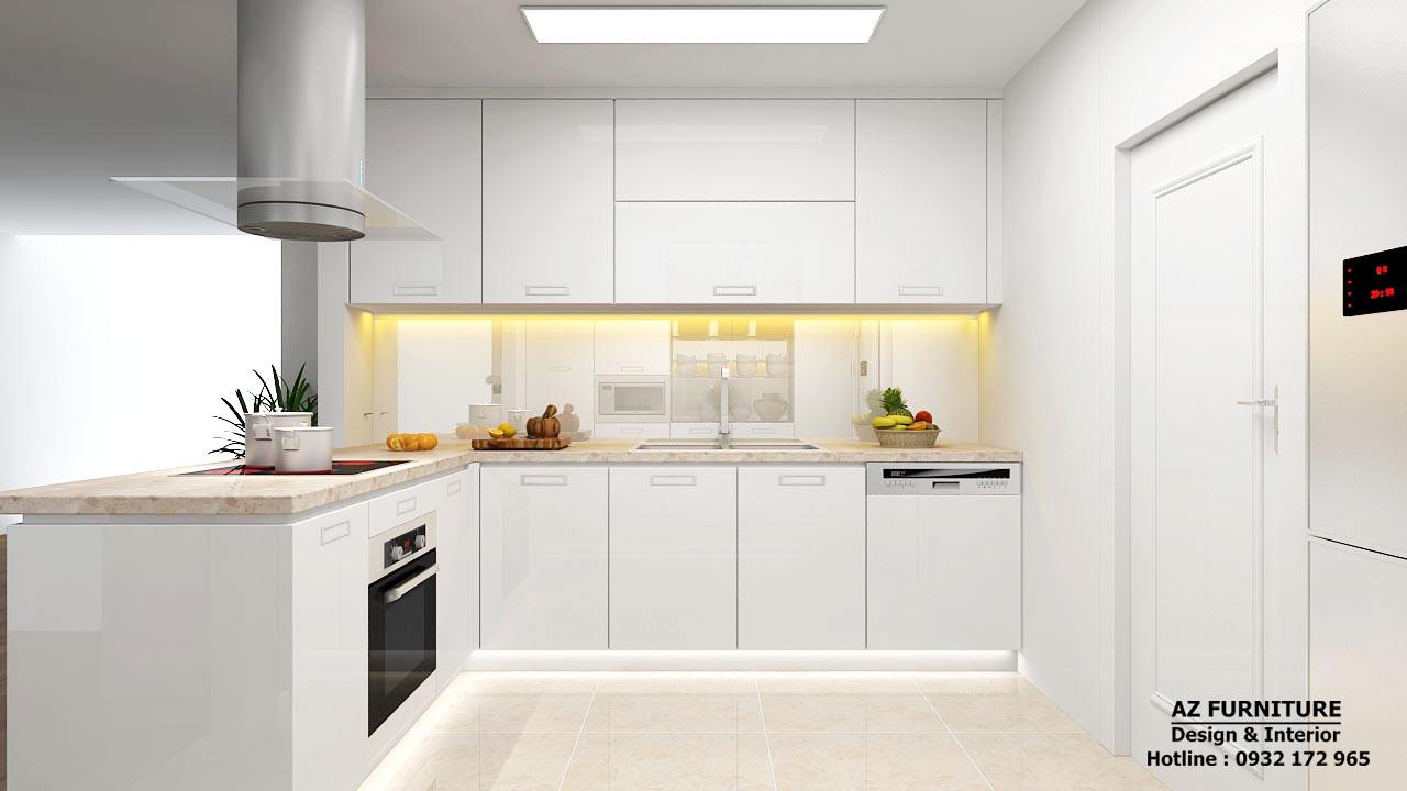 Thiết kế nội thất bếp chung cư - Hottline: 091 559 1234