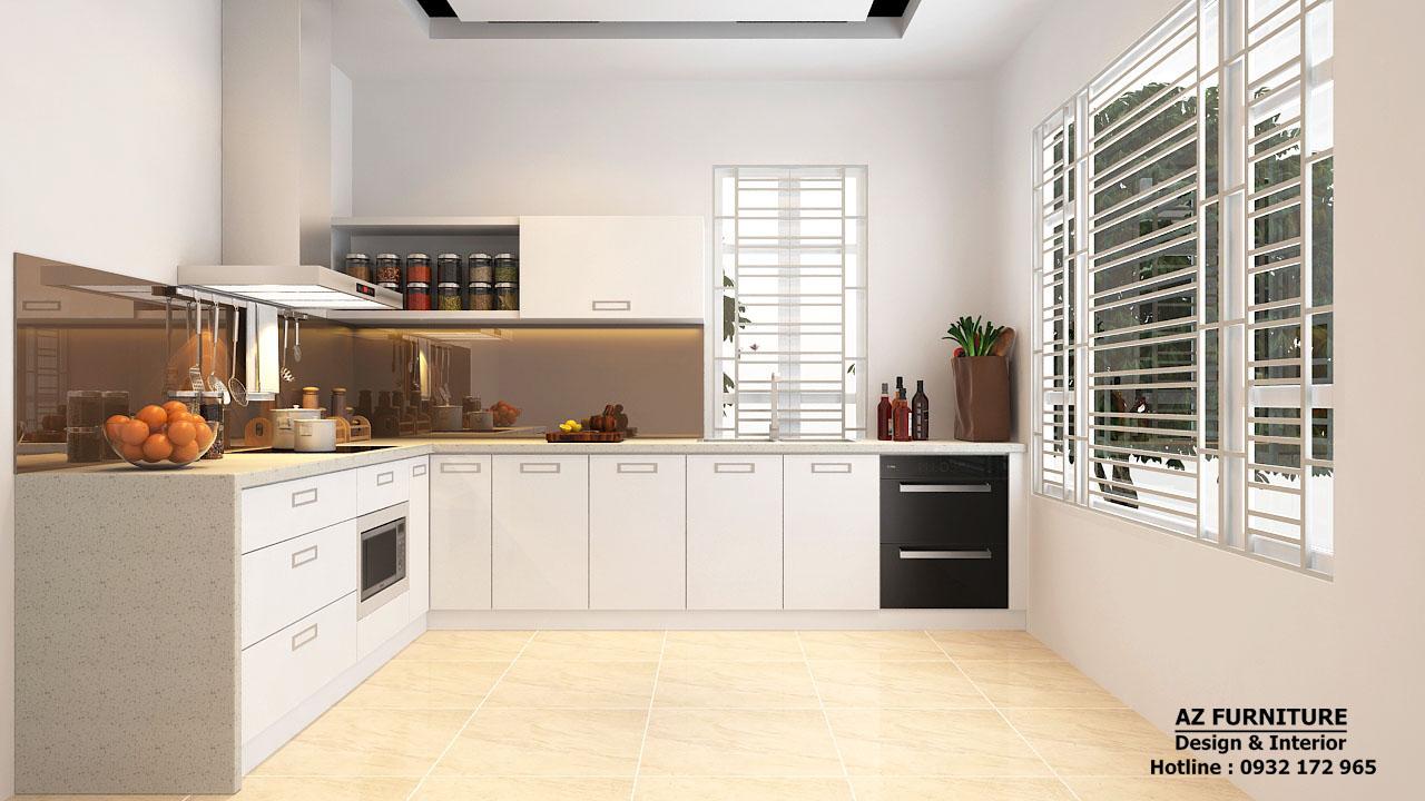 thiết kế nội thất bếp chung cư hiện đại