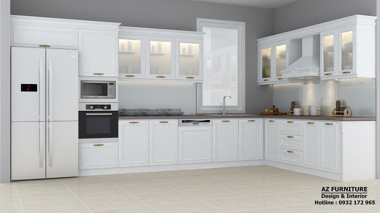 thiết kế nội thất phòng bếp chung cư, biệt thự
