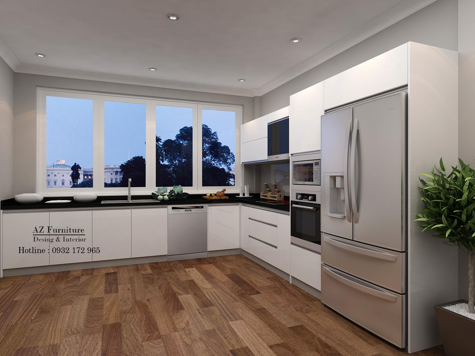 Thiết kế nội thất bếp hiện đại biệt thự