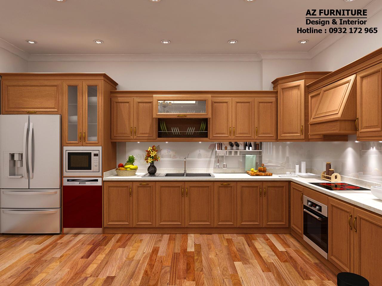 Thiết kế, thi công phòng bếp, phòng ăn