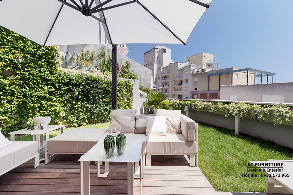 Thiết kế sân vườn biệt thự, thiết kế chung cư