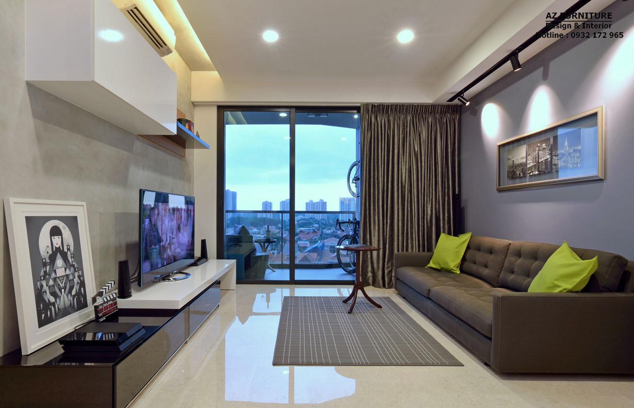 thiết kế phòng khách nội thất chung cư - Hottline: 091 559 1234