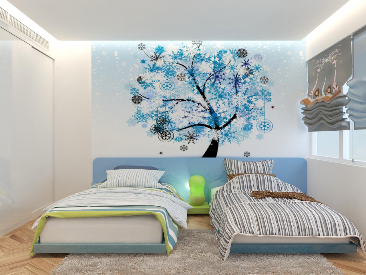 thiết kế nội thất chung cư phòng baby