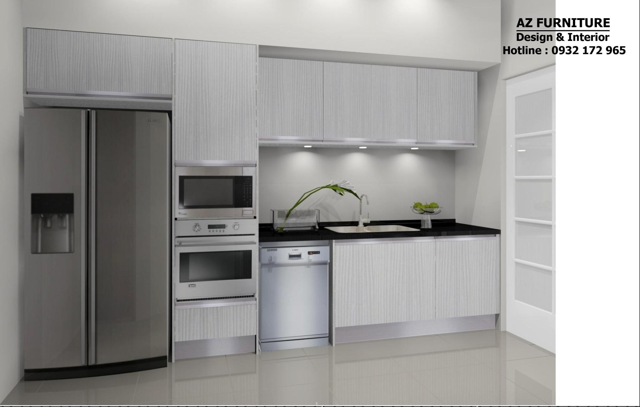 thiết kế nội thất phòng bếp tiện nghi hiện đại