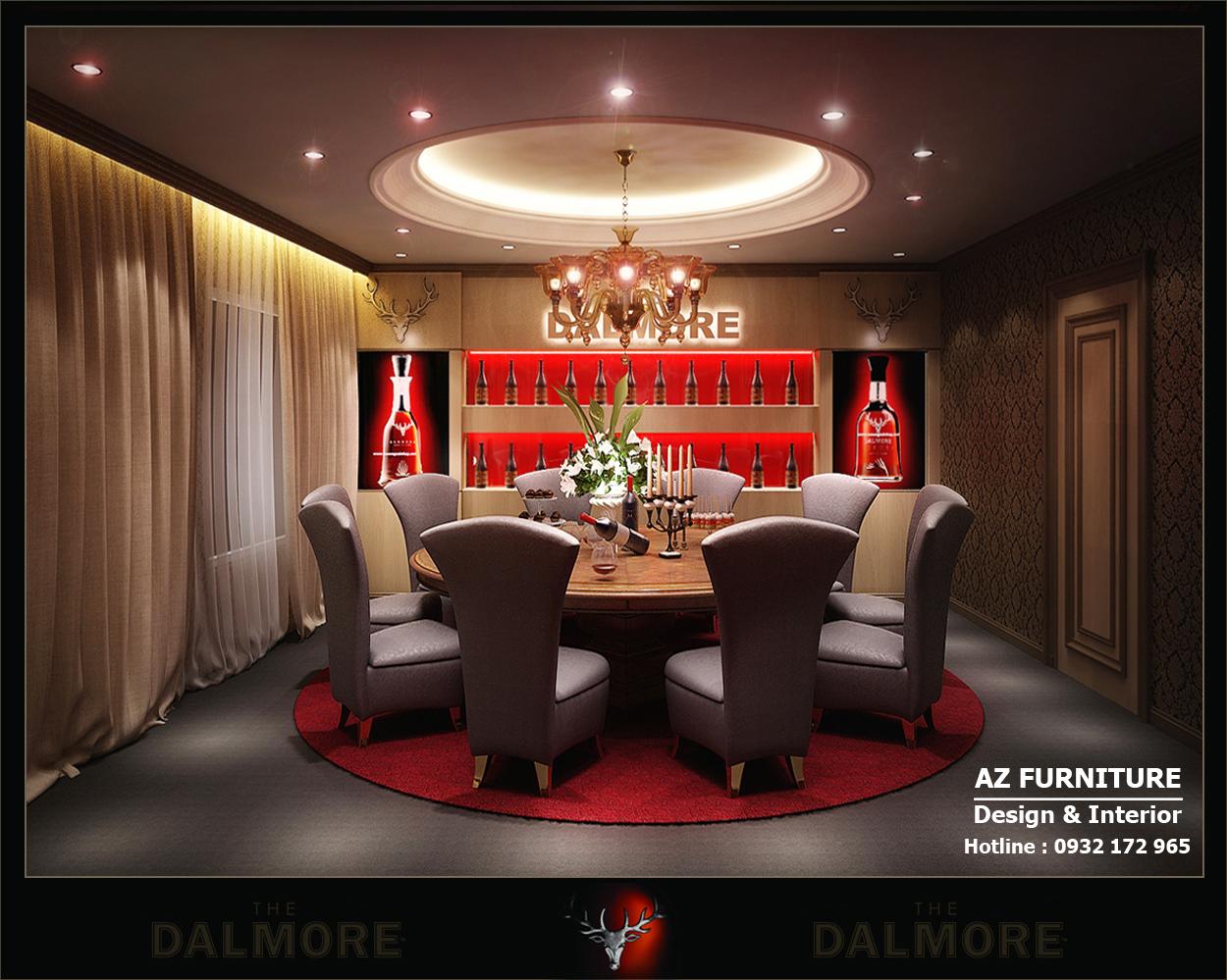 Thiết kế nội thất Showroom rượu The Dalmore