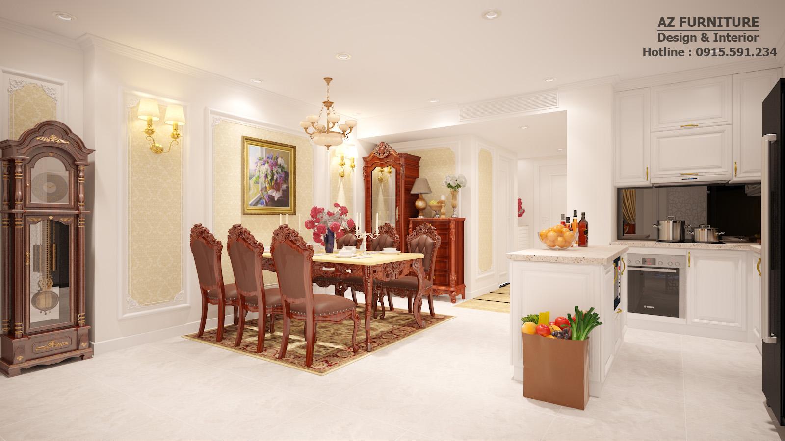 Thiết kế, thi công nội thất tân cổ điển