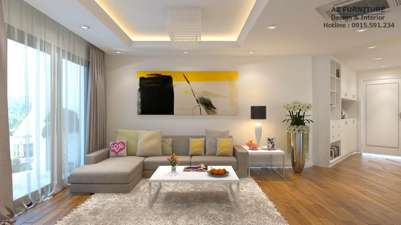 Phòng khách sang trọng hiện đại, năng động, một không gian mở