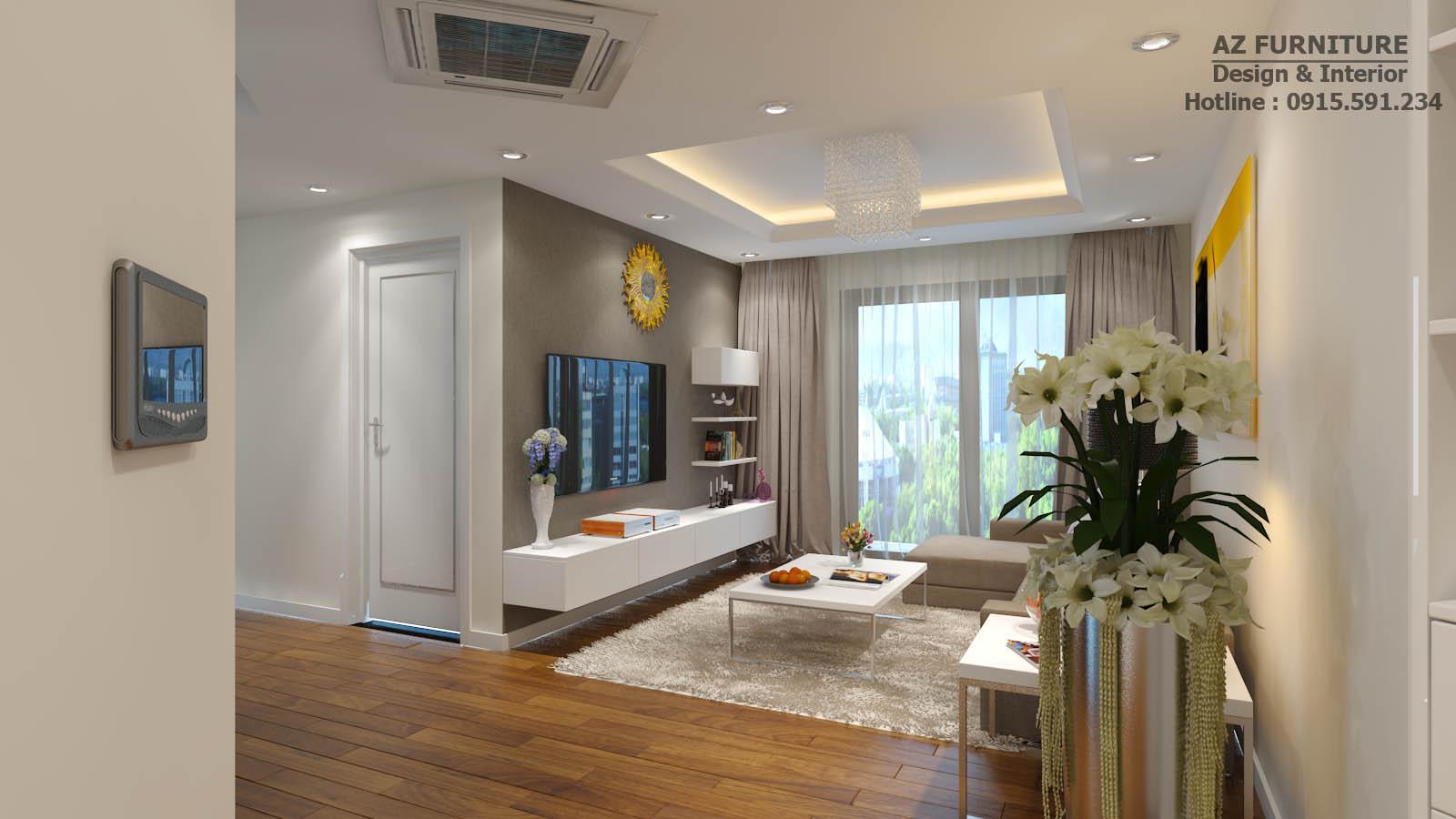 Phòng khách sang trọng hiện đại, năng động, một không gian mở.