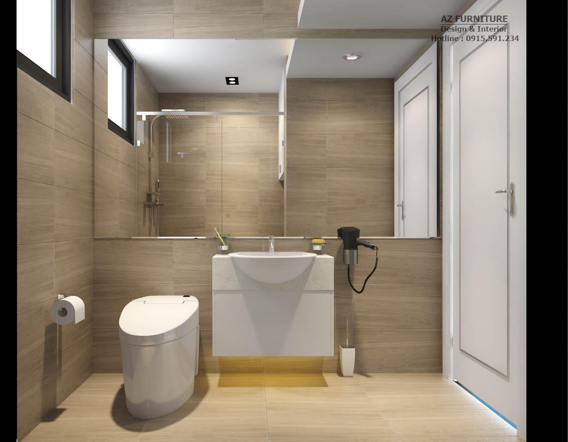 Thiết kế nội thất nhà vệ sinh phòng ngủ Master