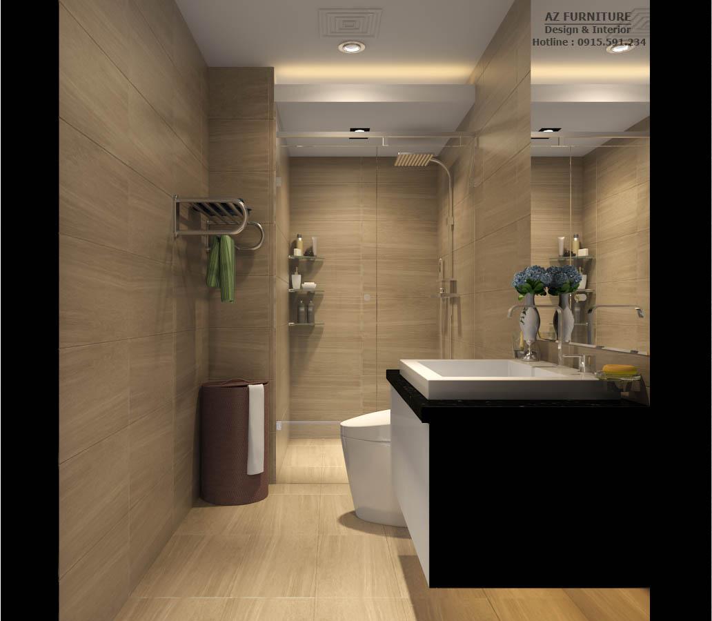 Thiết kế nội thất nhà vệ sinh chung