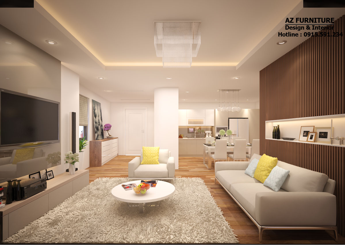 Thiết kế nội thất chung cư hiện đại - Hottline: 091 559 1234