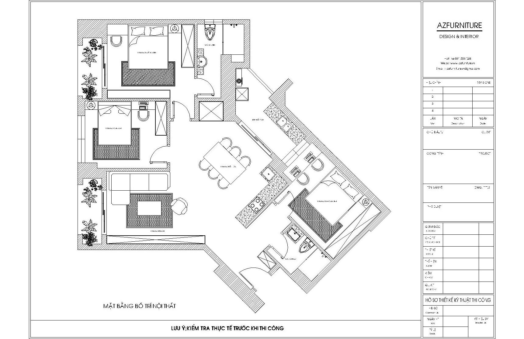 Thiết kế nội thất chung cư Tây Hà