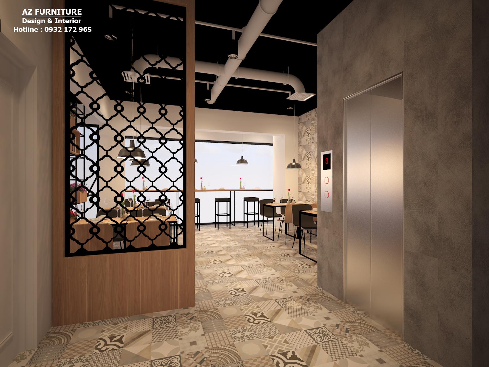 Thiết kế nội thất nhà hàng sang trọng