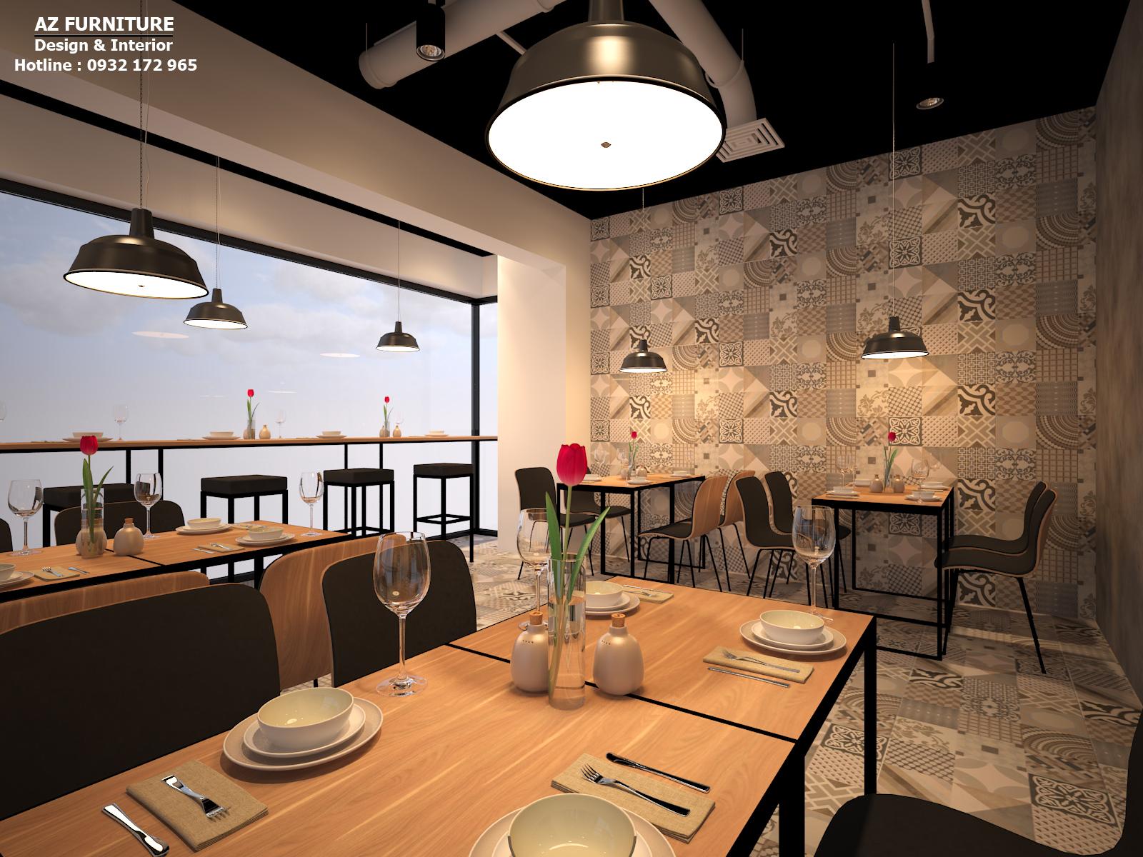 Thiết kế nhà hàng, cafe hiện đại