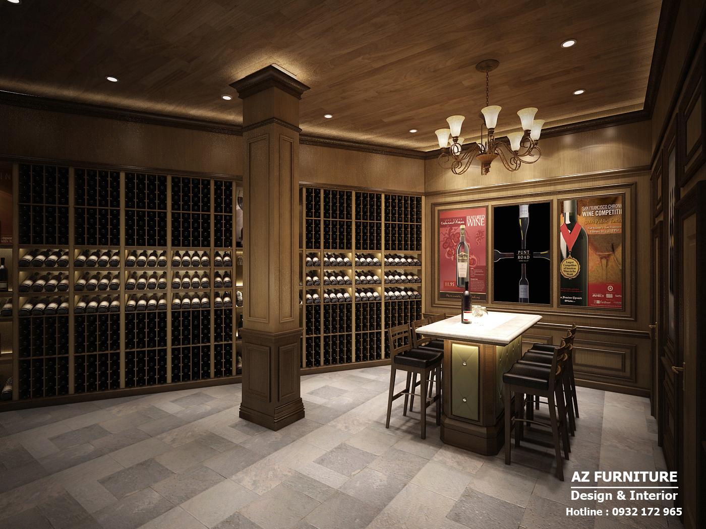 Thiết kế nội thất showroom rượu