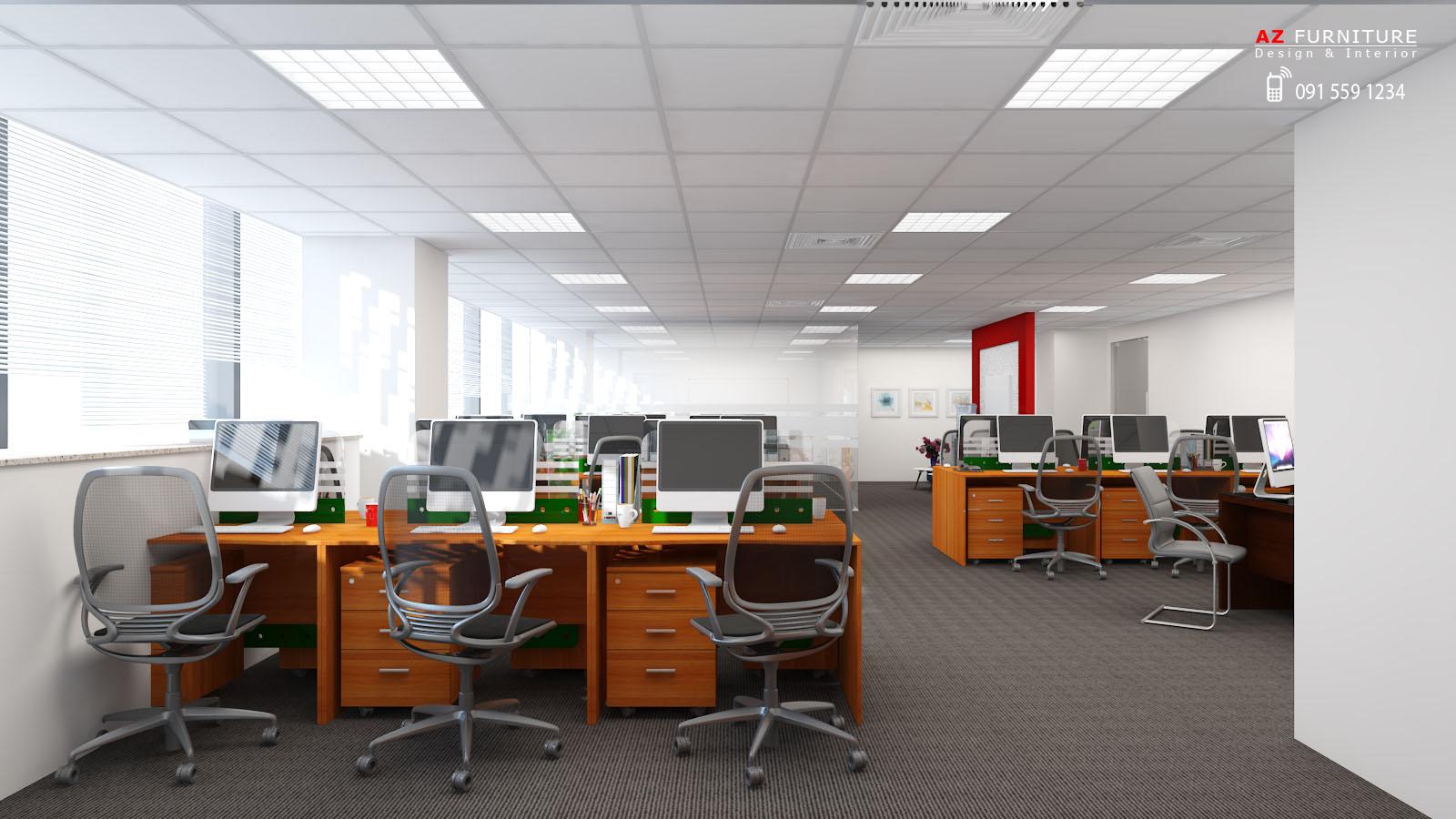 Tư vấn thiết kế nội thất văn phòng - Hotline: 091 559 1234