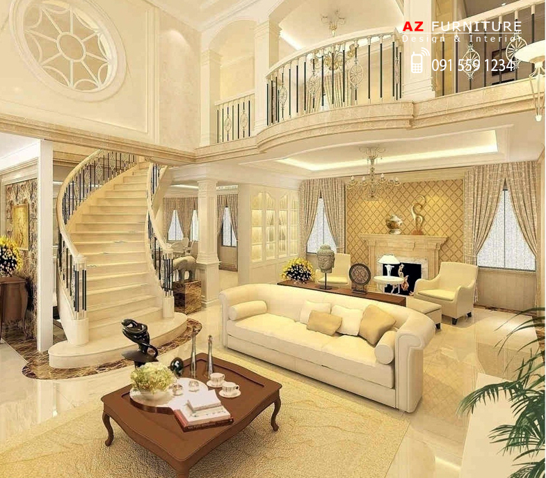 Thiết kế nội thất biệt thự phong cách cùng thời đại