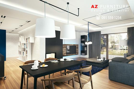 Thiết kế nội thất hiện đại, tiện nghi