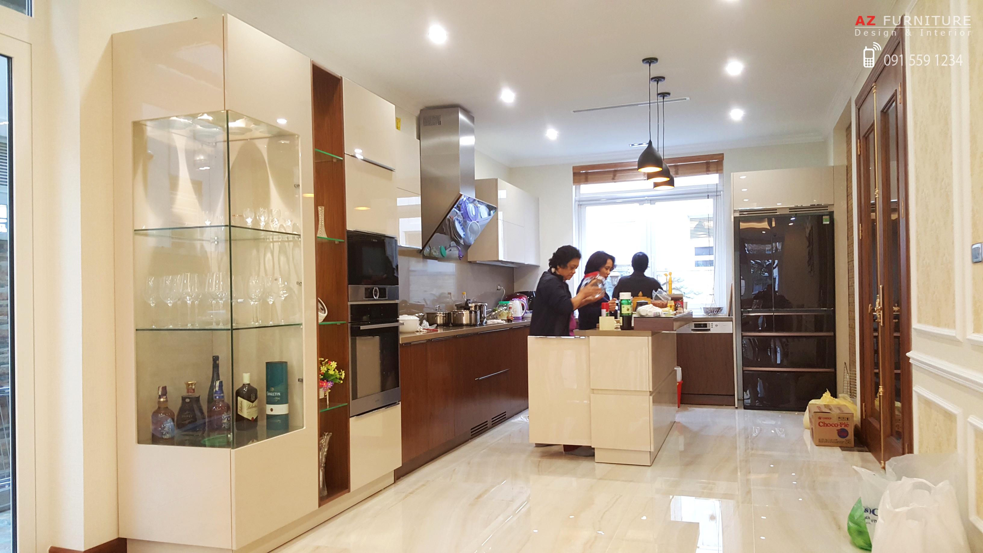 Thiết kế thi công nội thất bếp - Hotline: 091 559 1234