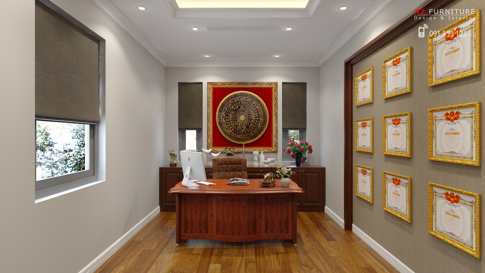 Thiết kế, thi công nội thất biệt thự - Hotline: 091 559 1234