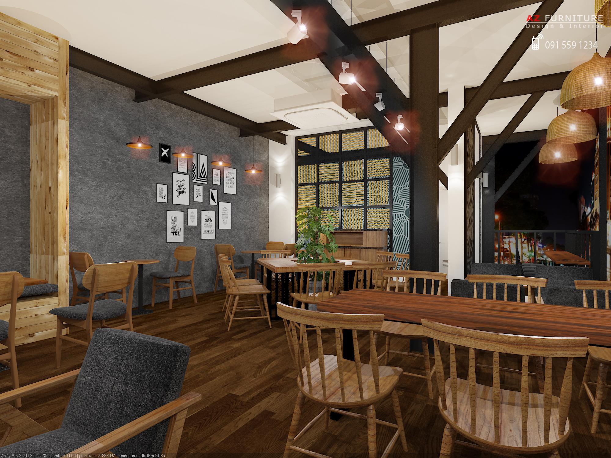 Thiết kế quán Cafe - Hotline: 091 559 1234