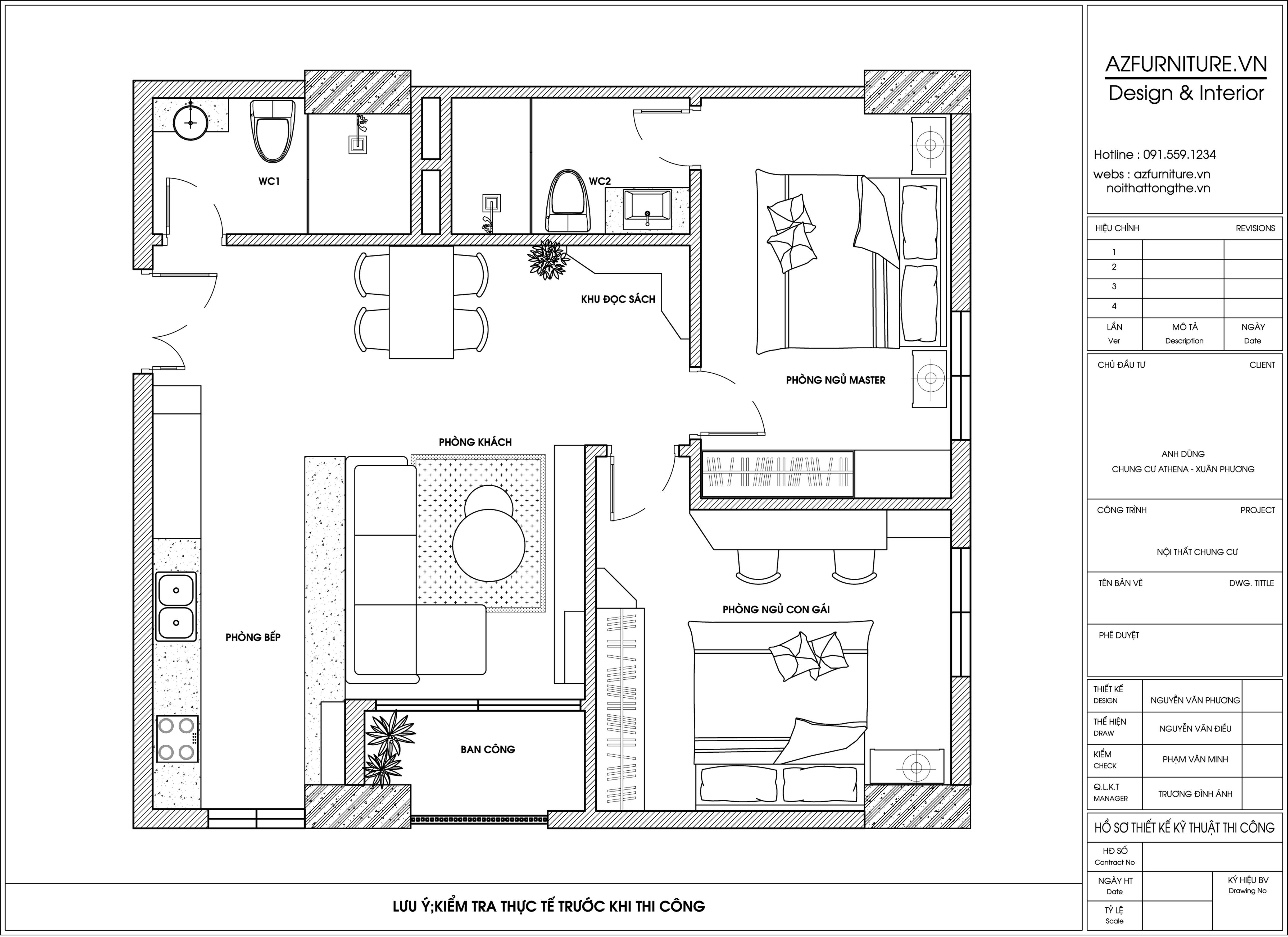Thiết kế thi công nội thất chung cư hiện đại