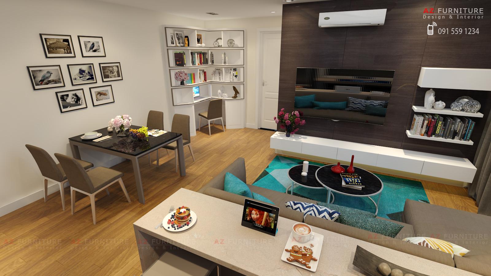 Tư vấn thiết kế nội thất chung cư - Hotline: 091 559 1234