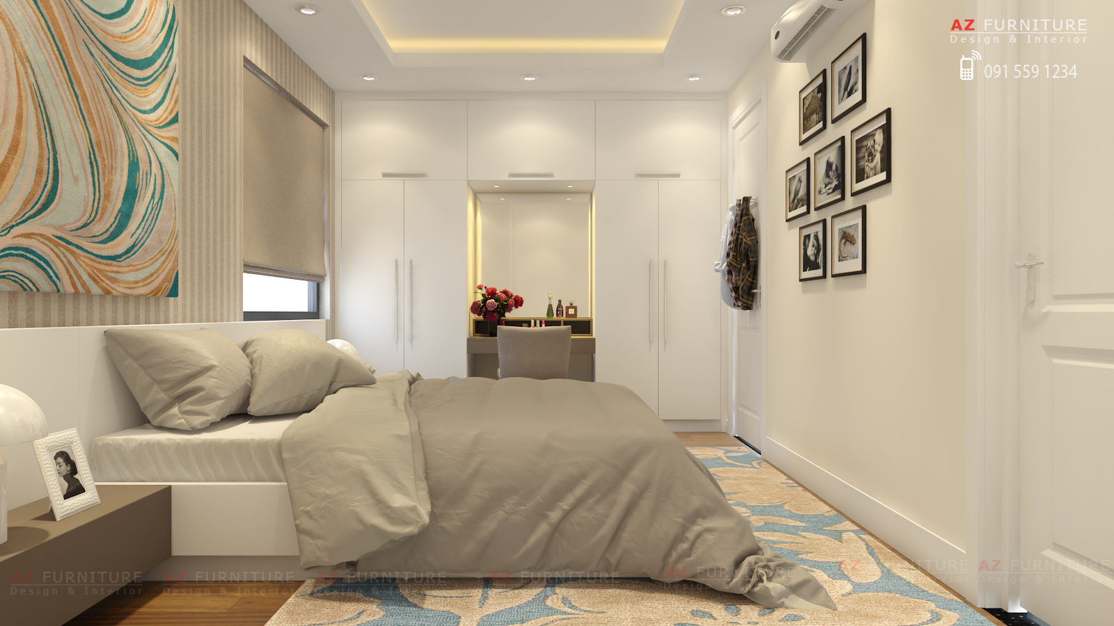Tư vấn, thiết kế nội thất chung cư hiện đại - Hottline: 091 559 1234